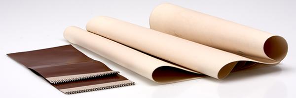 tappeti per nastri trasportatori con coperture in silicone e poliestere