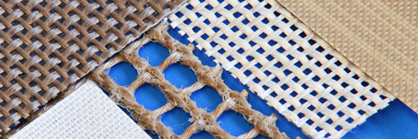 tappeti per nastri trasportatori in tessuto VETRO/PTFE